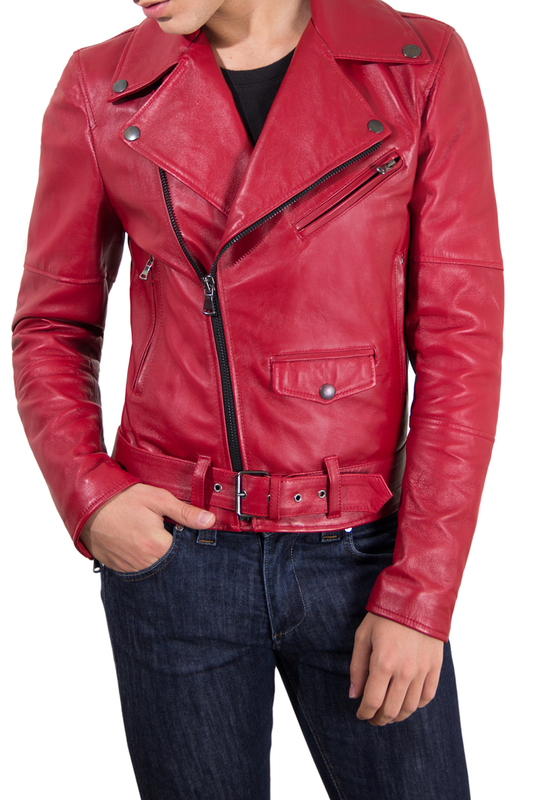 Leather jacket AD MILANO Leather jacket privee