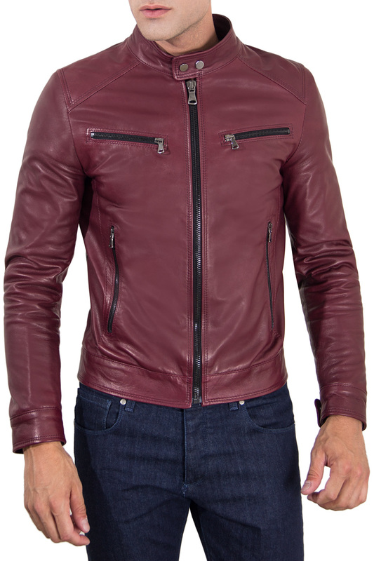Leather jacket AD MILANO Куртки косухи тоник для лица гранат 200 мл geoderm