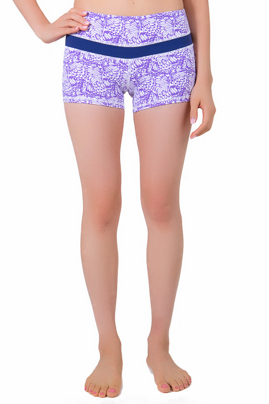 Женские шорты PURE APPAREL 270001_ASTER_PURPLE_AOP_BLUEPRINT