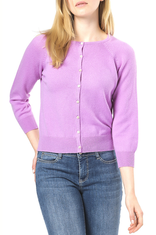 Кардиган Scott & Scott London Cashmere 1615_988_AFRICAN_VIOLET_604
