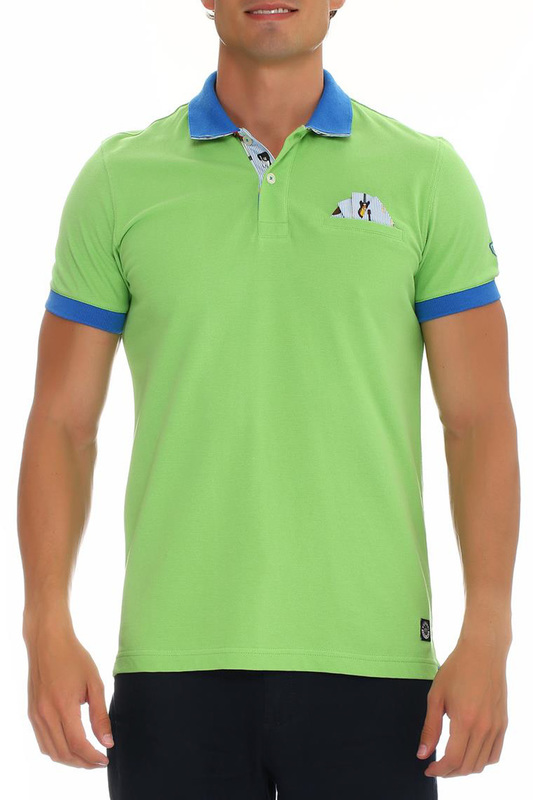 POLO T-SHIRT Galvanni POLO T-SHIRT plus size skew collar skull t shirt