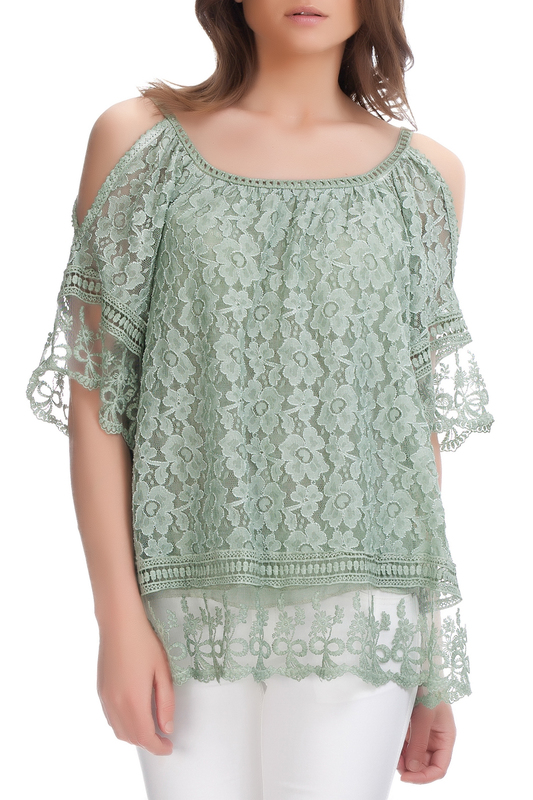 Купить Blouse LAURA MORETTI, Green