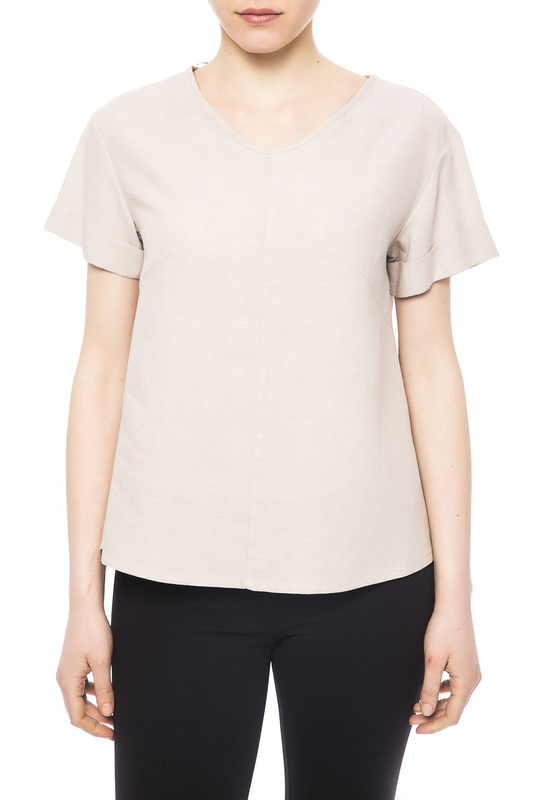 Блуза Trussardi Collection T003_850_CALOSSO_BEIGE
