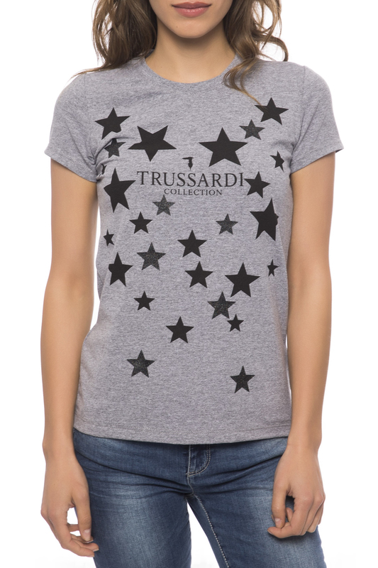 T-shirt Trussardi Collection T-shirt sequin pineapple pattern t shirt