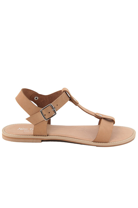 sandals MINEVAGANTI sandals faux suede lace up hollow chunky heel sandals