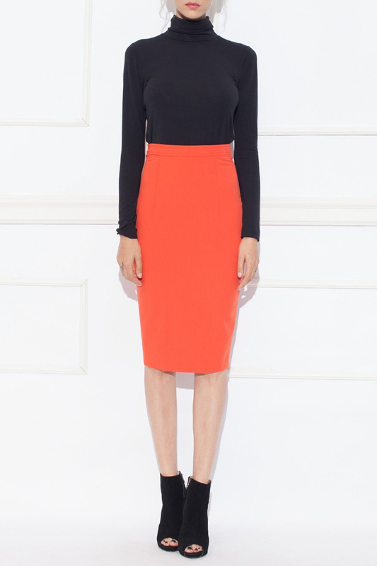 skirt Nissa skirt knot front zip up back skirt
