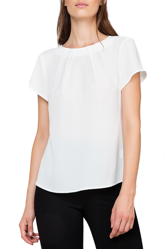 blouse Conquista blouse off the shoulder guipure frilled blouse