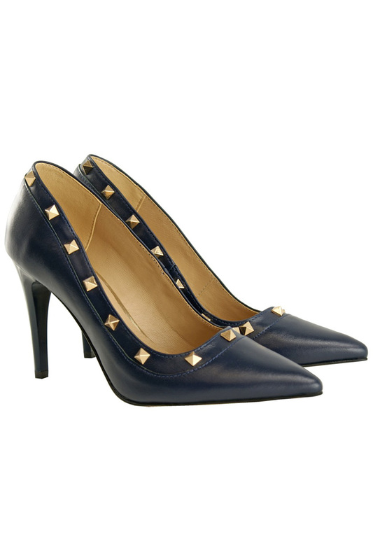 Купить SHOES BOSCCOLO, Туфли лодочки, Dark blue, gold