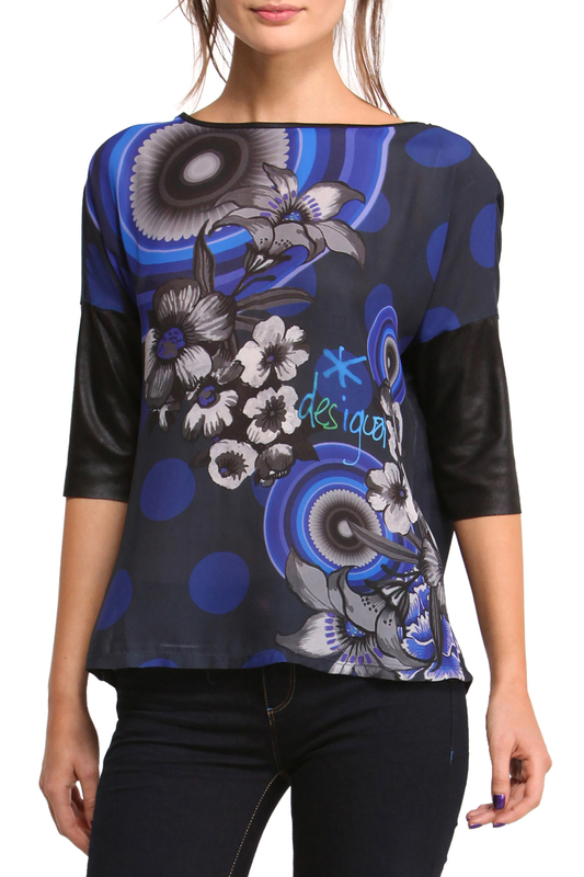 Купить Blouse Desigual, Dark blue, blue