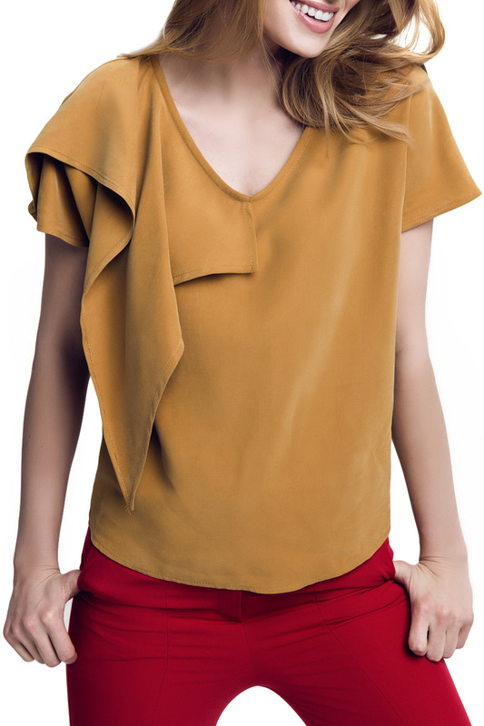 BLOUSE Peperuna BLOUSE off the shoulder guipure frilled blouse