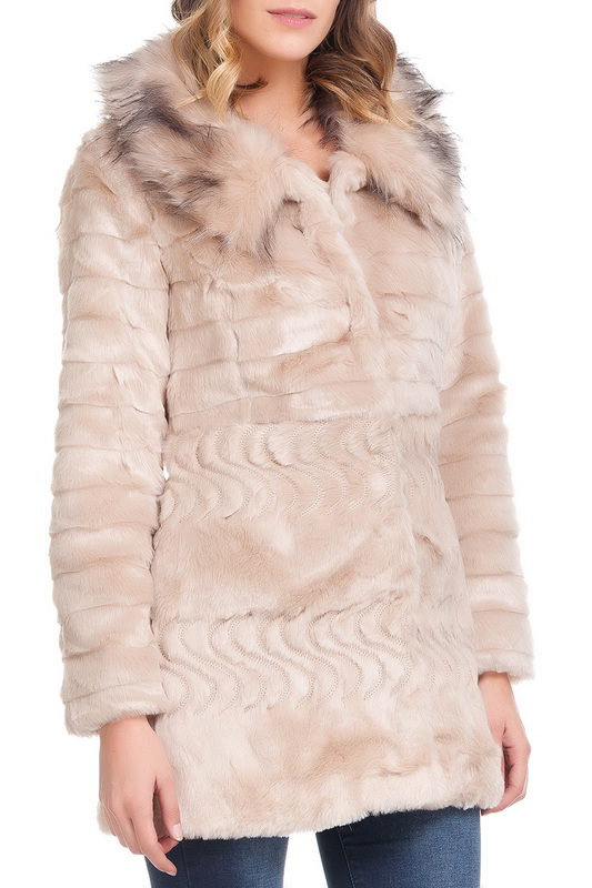 half fur LAURA MORETTI half fur half length fur coat manakas half length fur coat
