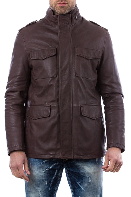 Leather jacket AD MILANO Leather jacket чайник 1050 мл polystar 8 марта женщинам