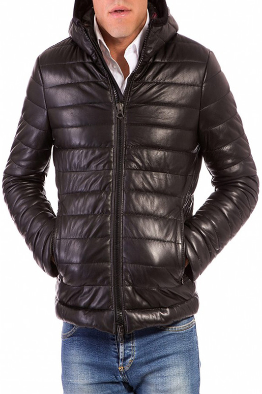 Leather jacket AD MILANO Leather jacket boss bottled 100 мл hugo boss boss bottled 100 мл