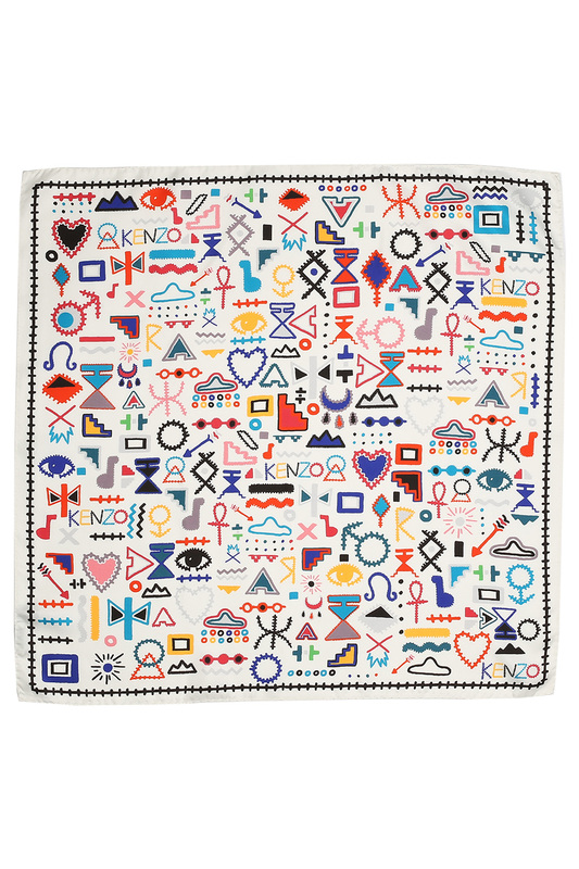 Scarf Kenzo Scarf paisley printed square scarf