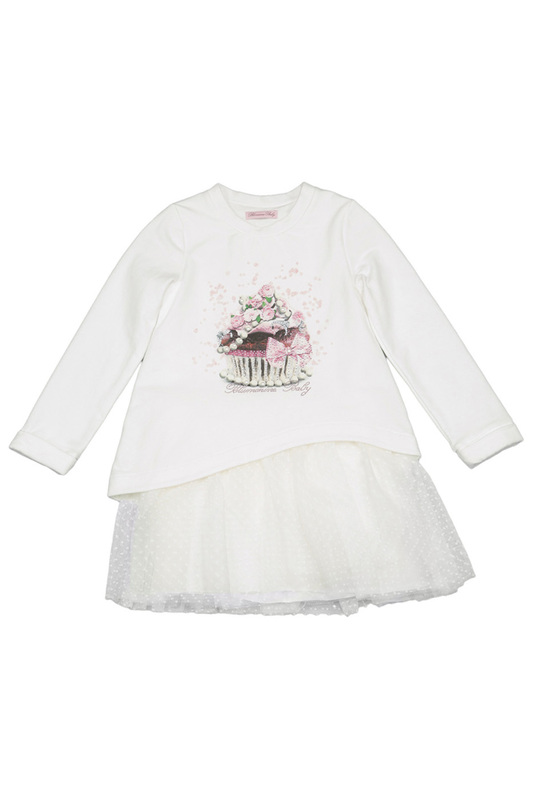 PRINTED DRESS BABY BLUMARINE PRINTED DRESS ornate printed pocket design dress