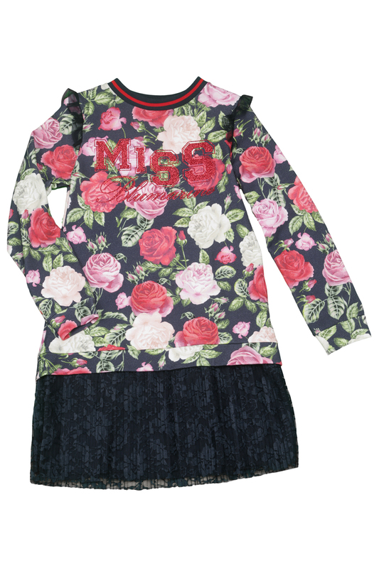 PATTERNED DRESS Miss Blumarine PATTERNED DRESS patterned skirt baby blumarine patterned skirt