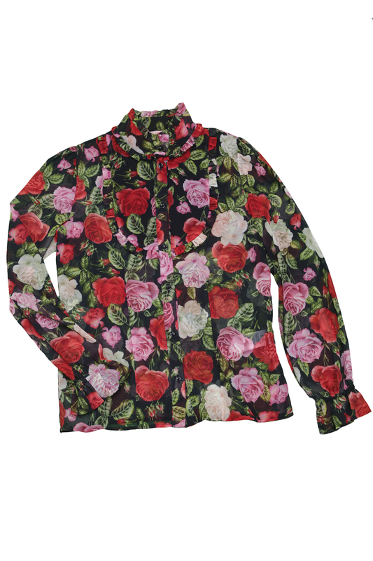 PATTERNED BLOUSE Miss Blumarine PATTERNED BLOUSE patterned skirt baby blumarine patterned skirt