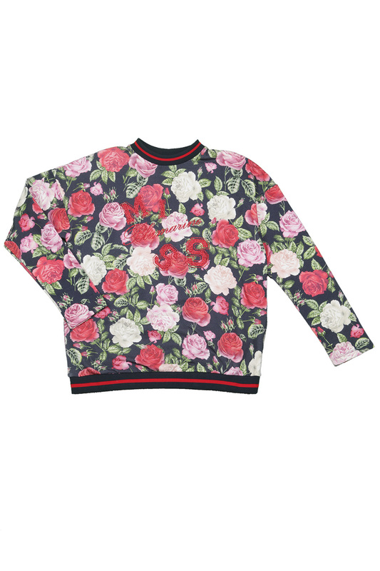 PATTERNED SWEATSHIRT Miss Blumarine PATTERNED SWEATSHIRT miss blumarine jeans одеяло