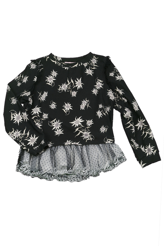 PATTERNED SWEATSHIRT Miss Blumarine PATTERNED SWEATSHIRT patterned skirt baby blumarine patterned skirt