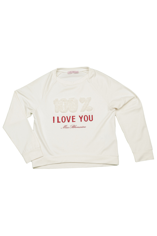 SWEATSHIRT WITH EMBROIDERY Miss Blumarine SWEATSHIRT WITH EMBROIDERY sweatshirt top miss blumarine sweatshirt top