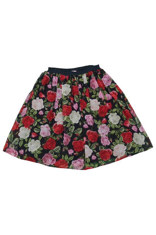 PATTERNED SKIRT Miss Blumarine PATTERNED SKIRT patterned skirt baby blumarine patterned skirt
