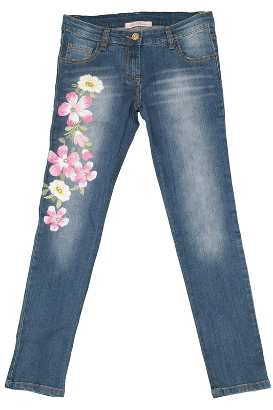 JEANS W/EMBROIDERY Miss Blumarine JEANS W/EMBROIDERY 5 pockets jeans miss blumarine 5 pockets jeans