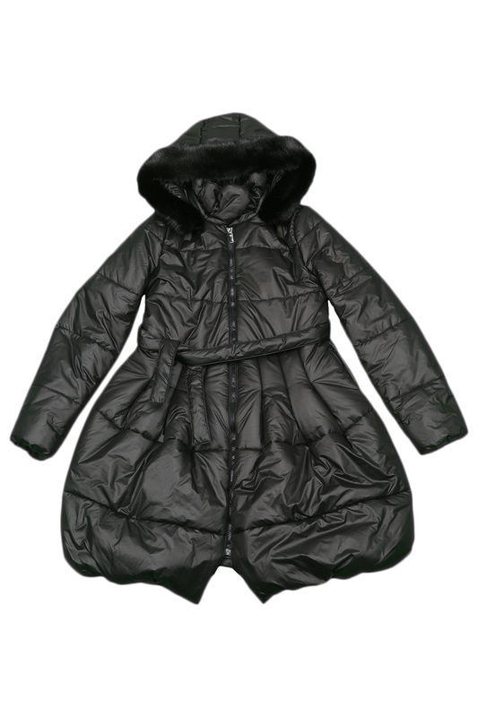 HOODED DOWN JACKET Miss Blumarine HOODED DOWN JACKET
