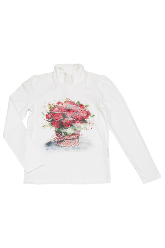 TURTLE-NECK T-SHIRT BABY BLUMARINE TURTLE-NECK T-SHIRT блуза naturel блуза