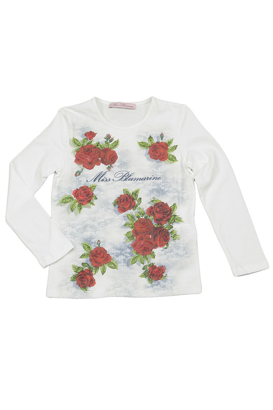 PRINTED T-SHIRT Miss Blumarine PRINTED T-SHIRT v neck 3d graphic printed t shirt