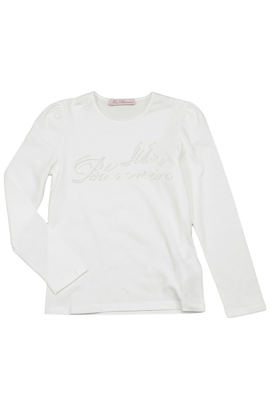 T-SHIRT W/EMBROIDERY Miss Blumarine T-SHIRT W/EMBROIDERY t shirt w embroidery baby blumarine одежда повседневная на каждый день
