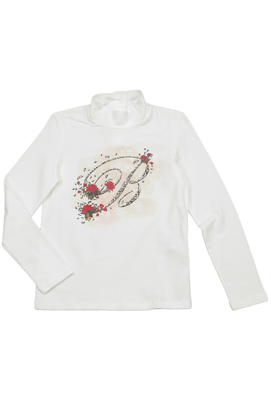 TURTLE-NECK T-SHIRT BABY BLUMARINE TURTLE-NECK T-SHIRT