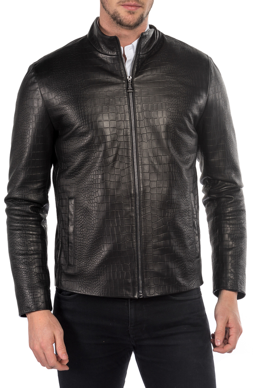 leather jacket MIO CALVINO Куртки косухи куртки