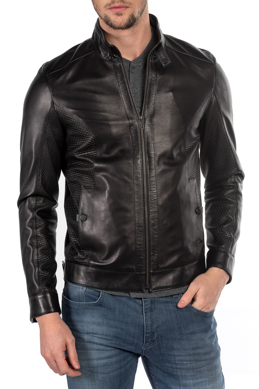 leather jacket MIO CALVINO Куртки косухи плед 145х200 jardin плед 145х200