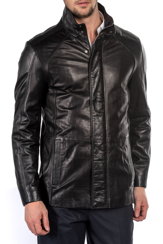 leather jacket MIO CALVINO Куртки косухи лоферы hes trend лоферы