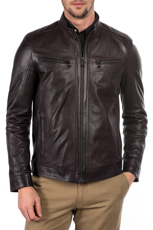 leather jacket MIO CALVINO Куртки косухи jacket mio calvino куртки стеганые
