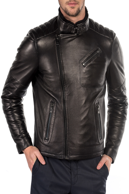 leather jacket MIO CALVINO Куртки косухи