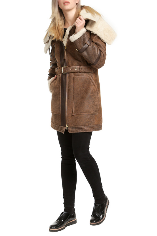 sheepskin coat ARMA Collection Ladies sheepskin coat пальто emporio armani пальто в стиле куртки