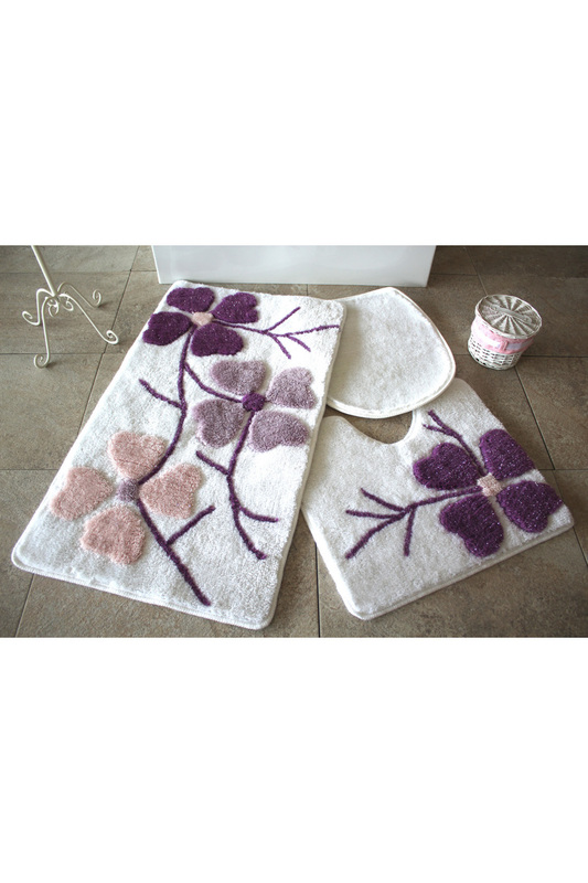 Bathmat Set (3 Pieces) Alessia Home Bathmat Set (3 Pieces) towel set 3 pieces leunelle towel set 3 pieces