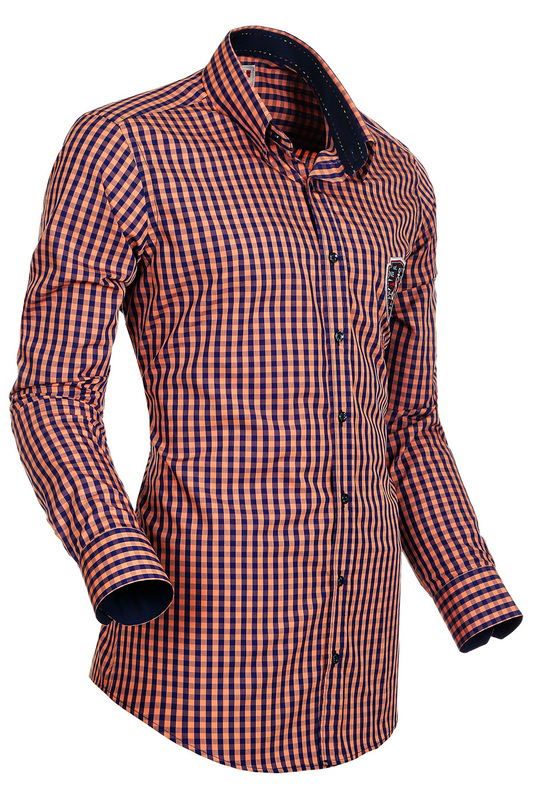 Купить SHIRT SOGNO CAMICIE, Orange, blue