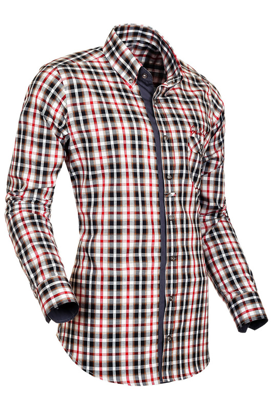 Купить SHIRT SOGNO CAMICIE, BROWN, red