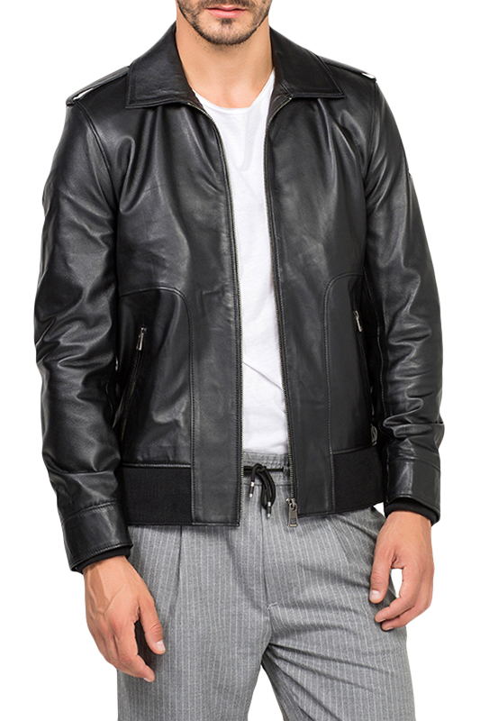 Leather Jacket JIMMY SANDERS Leather Jacket jacket jimmy sanders куртки стеганые