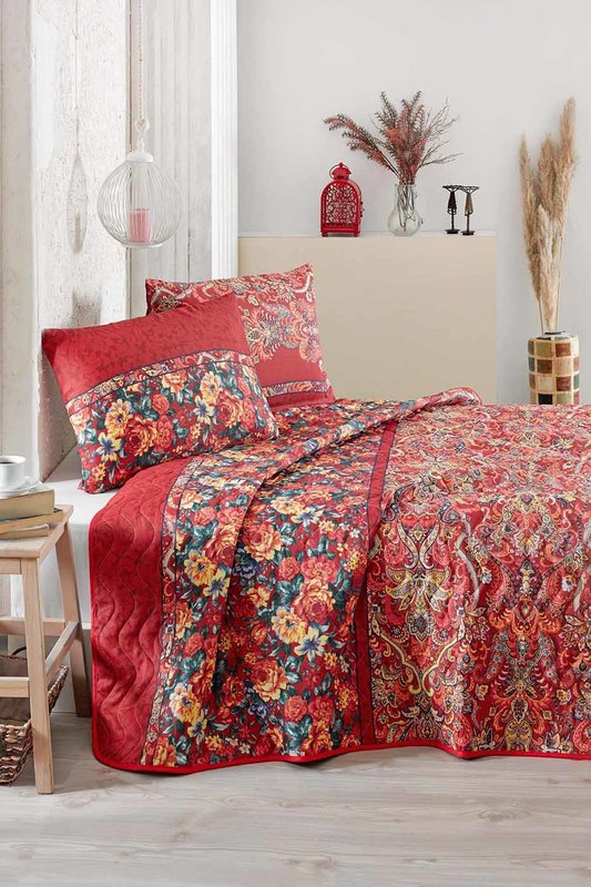 Double Quilted Bedspread Set Eponj home Double Quilted Bedspread Set ranforce double bedspread set cotton box ranforce double bedspread set
