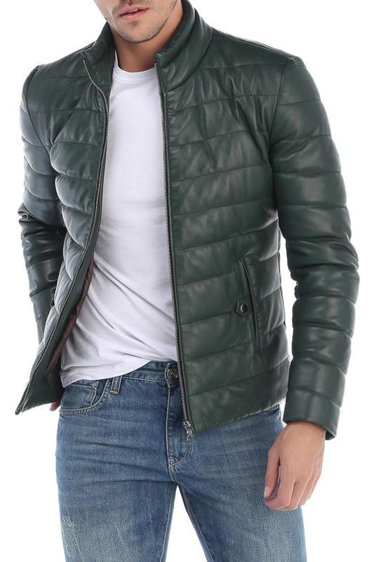 leather jacket GIORGIO DI MARE Куртки стеганые