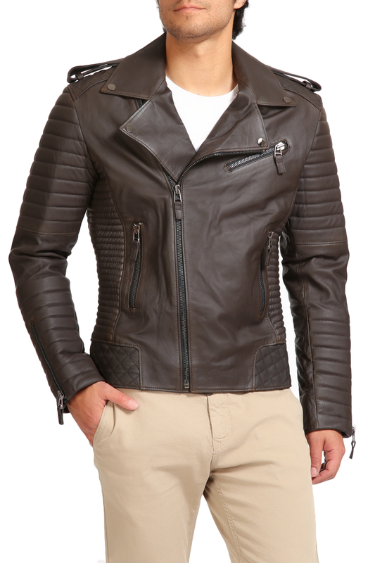 leather jacket GIORGIO DI MAREleather jacket