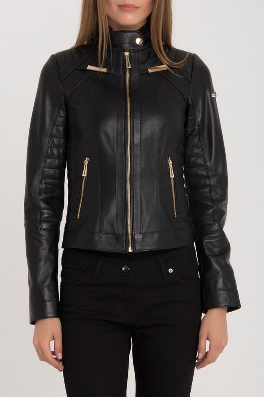 Купить Leather Jacket IPARELDE, Black-Gold