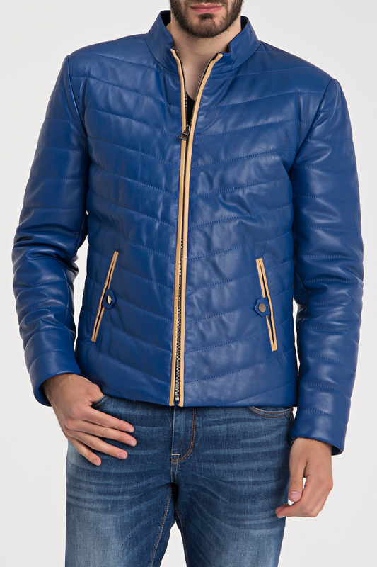 Купить Leather Jacket IPARELDE, Blue