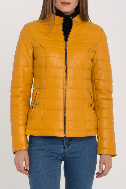 Купить Leather Jacket IPARELDE, Yellow