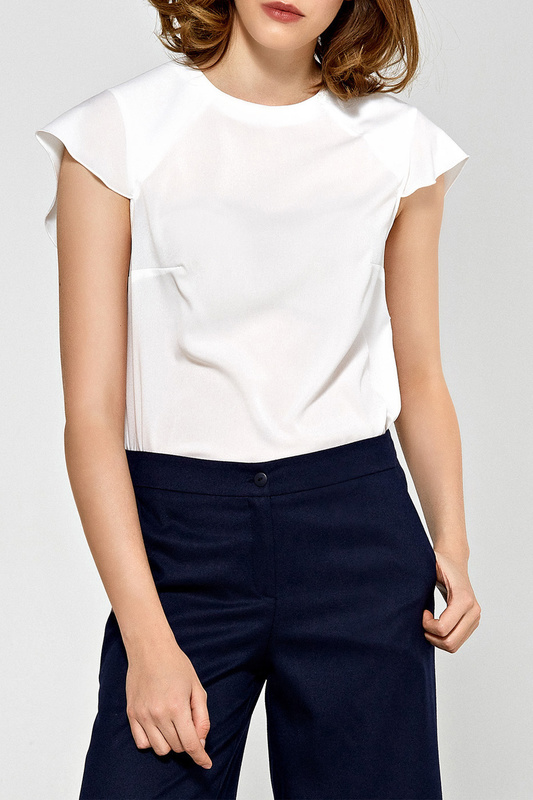 blouse Colett blouse off the shoulder guipure frilled blouse