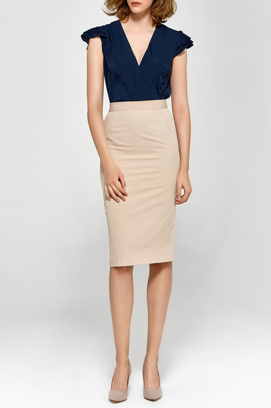 skirt Colett skirt solid pleated skirt