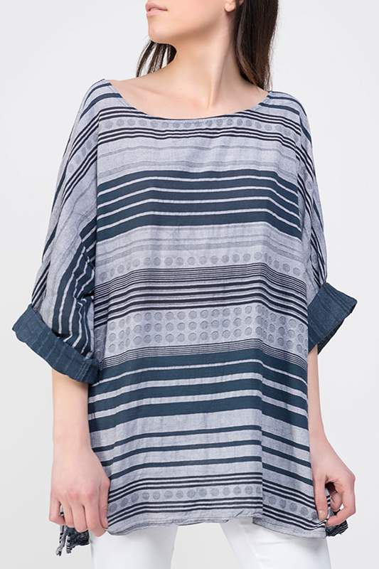 Купить Blouse DIOXIDE, Navy, gray